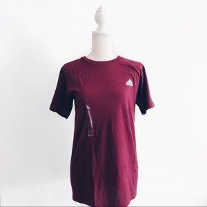 NWT Adidas Maroon The Go To Logo T-shirt